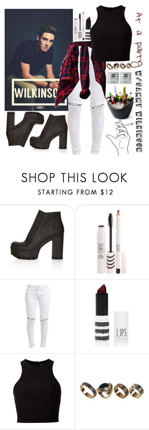 """At a party with Sammy♥"" by rusher-decorazon on Polyvore featuring moda, Topshop, FiveUnits, T By Alexander Wang y ALDO"