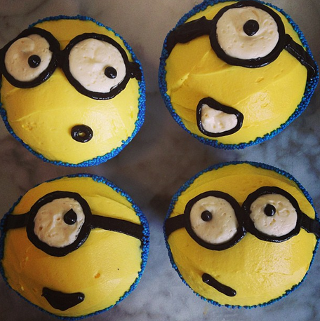 Minion cupcakes at Trophy Cupcakes.