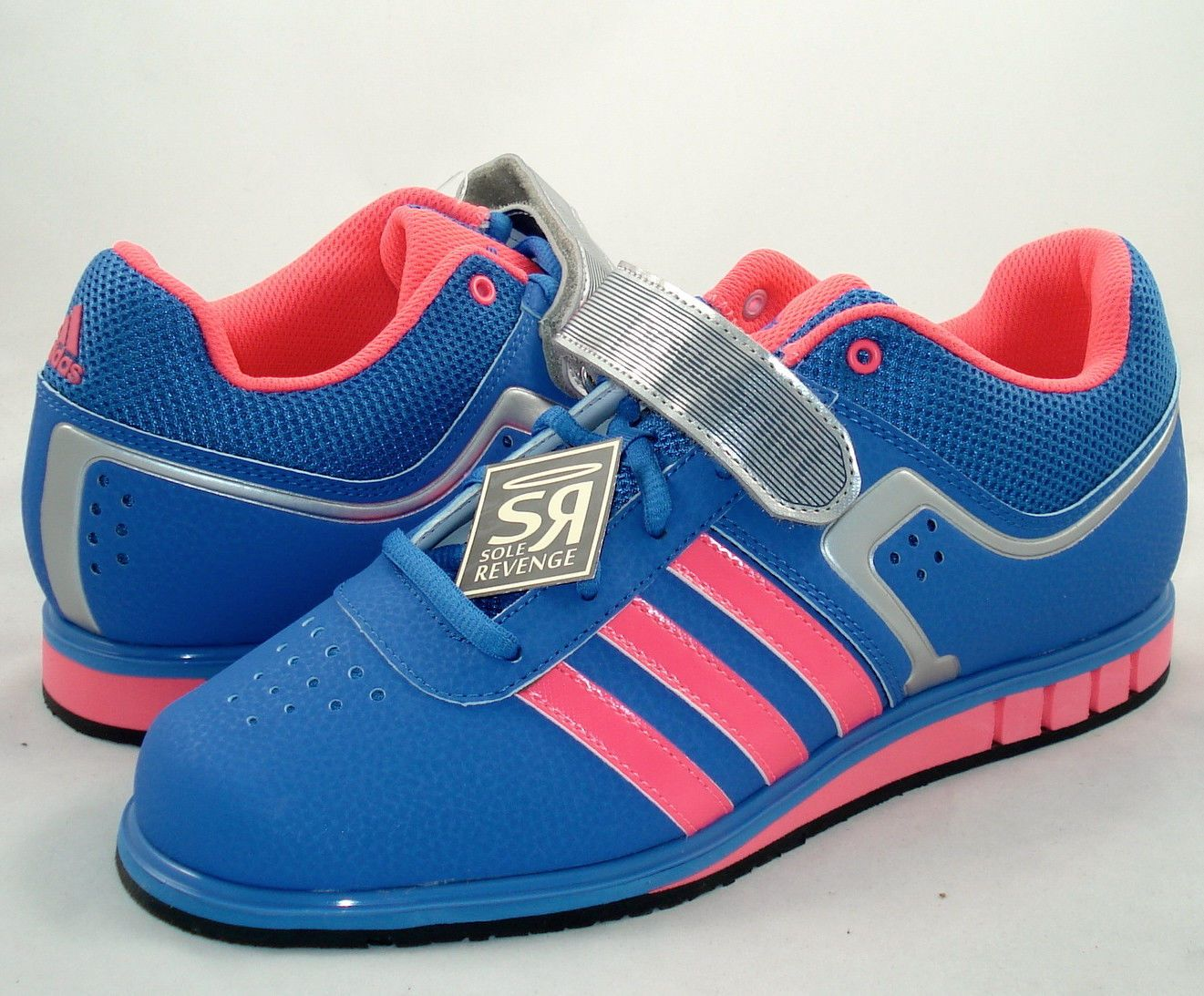 Adidas New Powerlift 2 Weightlifting Shoes Red Zest Blue
