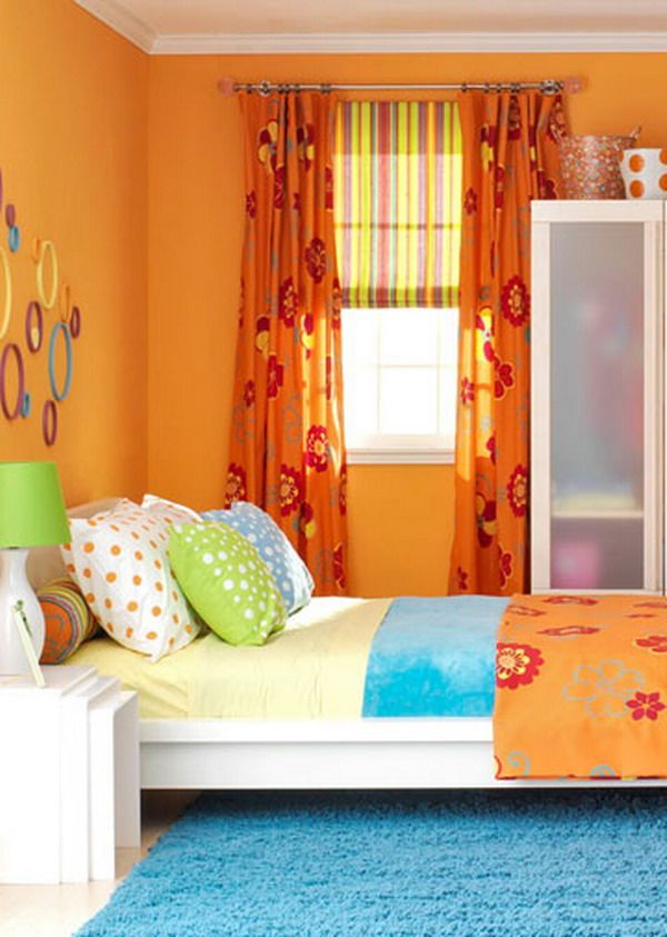 Orange Bedroom Color Scheme For Teenage