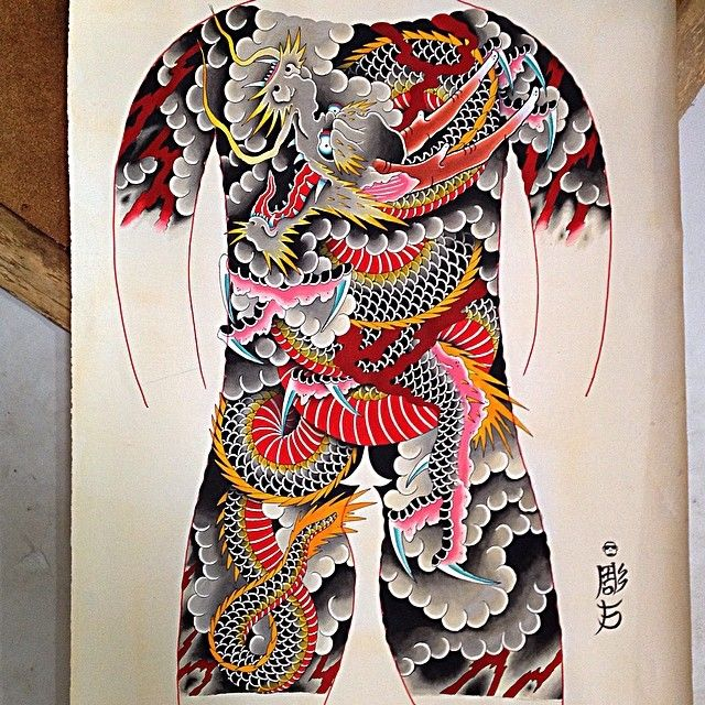 japanesetattoo orientaltattoo tattoo tradicional bodysuit irezumi ink dragon hi n. Black Bedroom Furniture Sets. Home Design Ideas