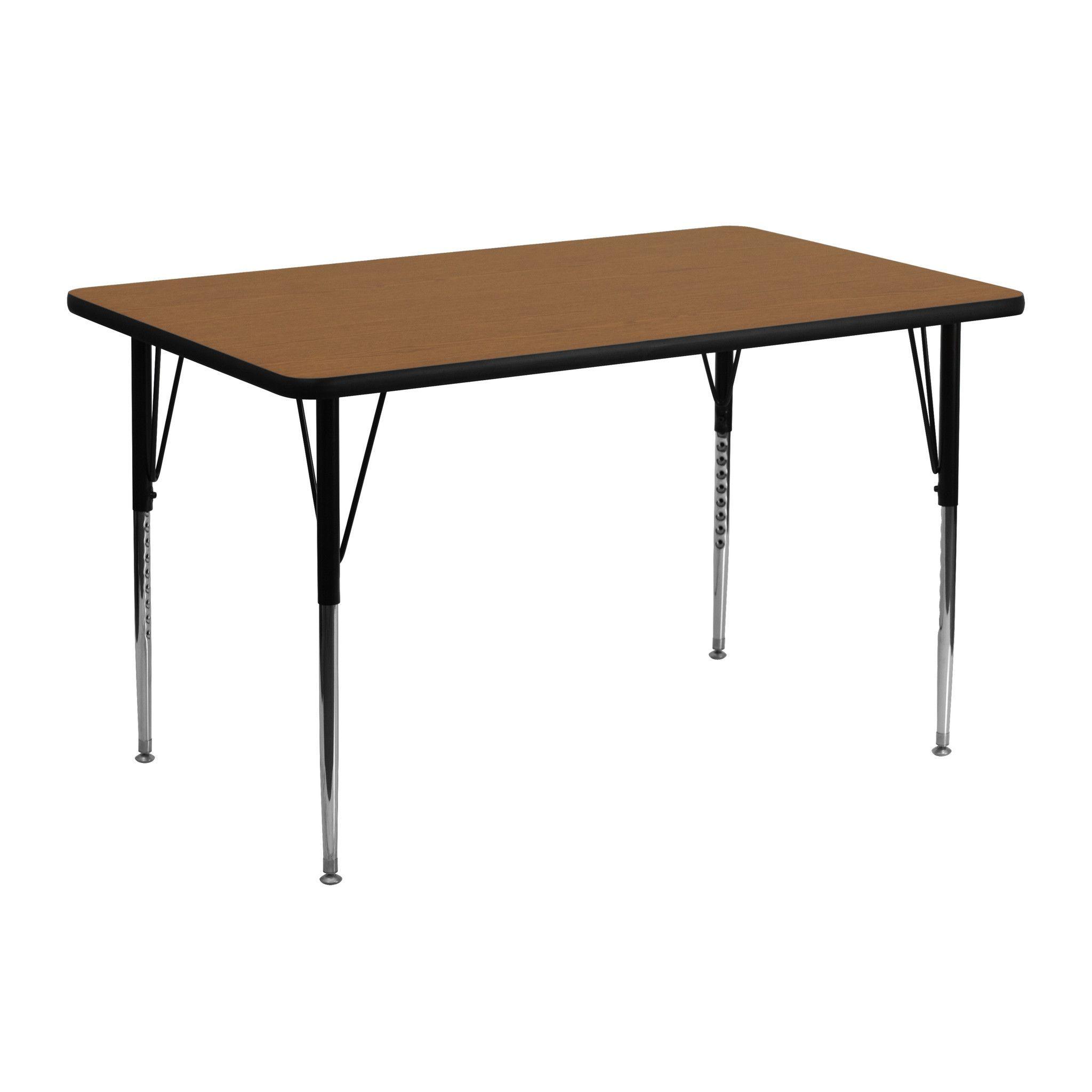 24 x 48 activity table XU-A2448-REC-OAK-T-A-GG