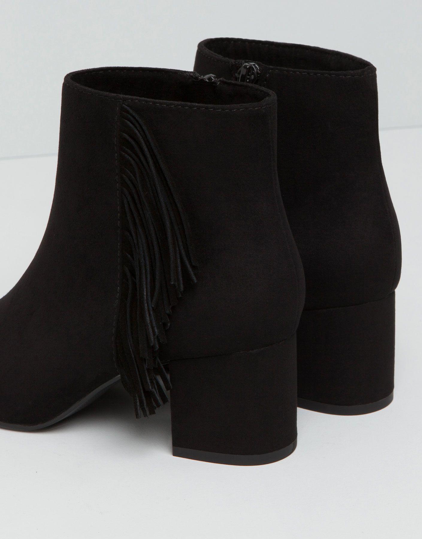 Botki Na Obcasie Z Fredzlami Buty Damskie Dla Niej Pull Bear Polska Shoes Latest Fashion Trends Fashion
