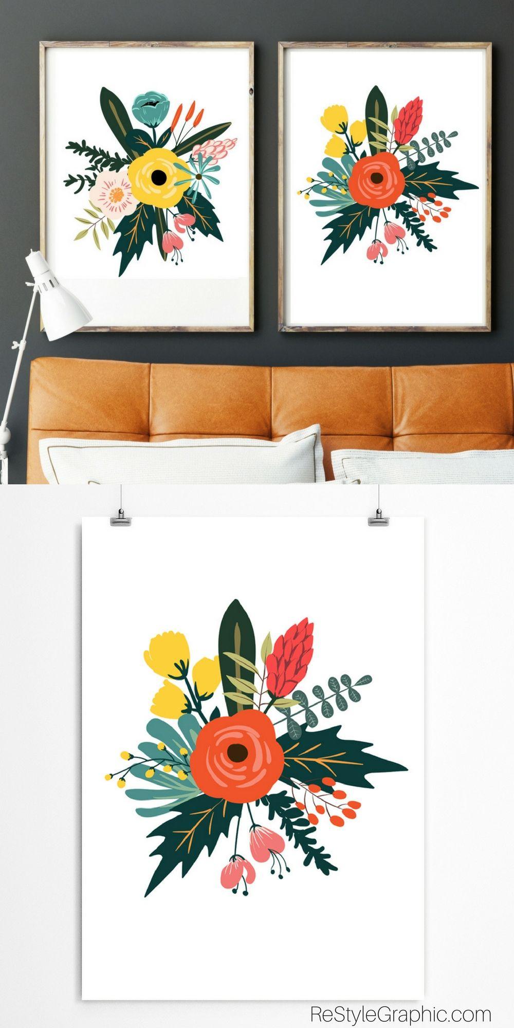 Floral Wall Artwork Restylegraphic Kids Art Prints Floral Prints Art Floral Wall Art