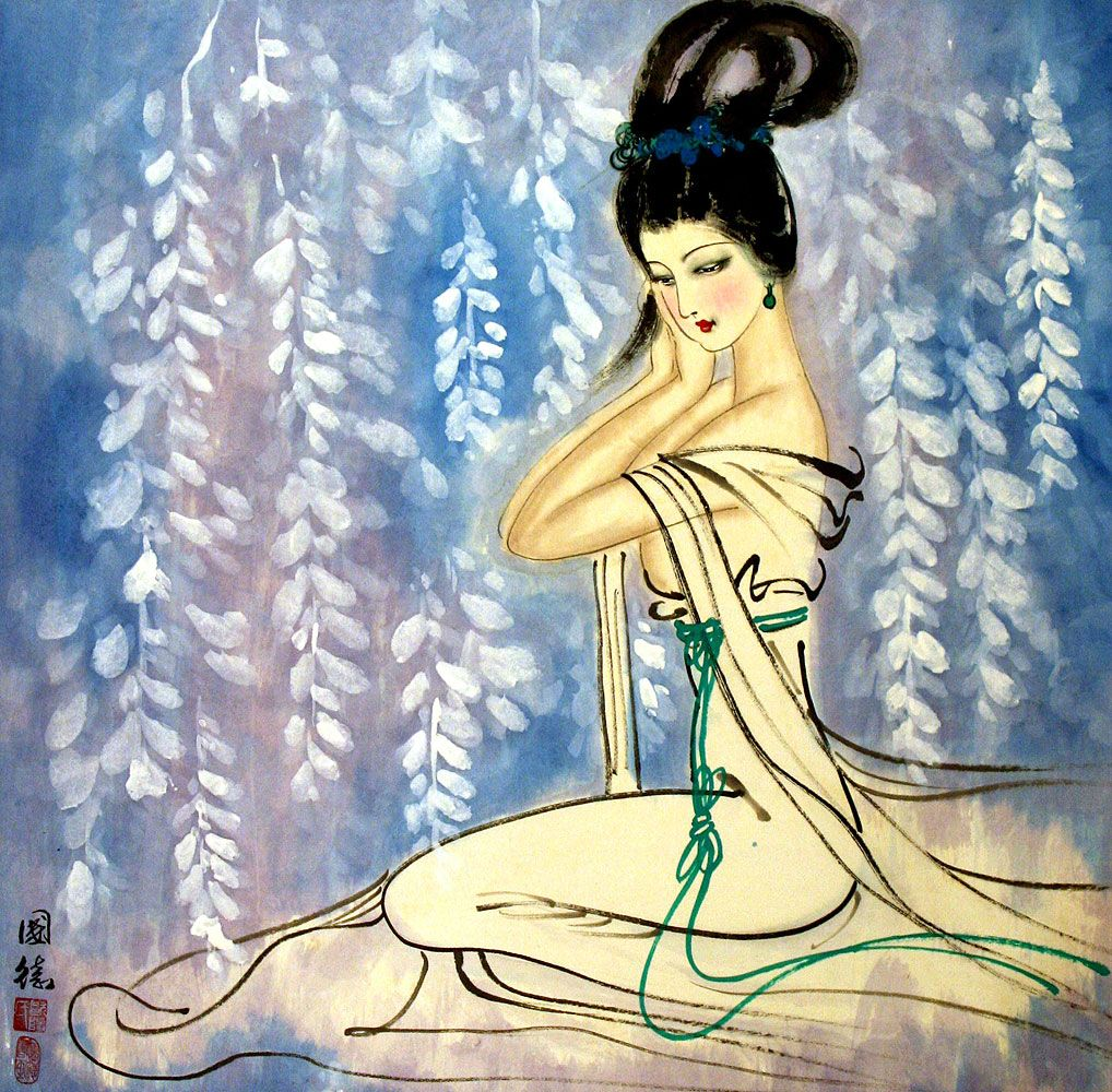 Paintings Of Asian Women
