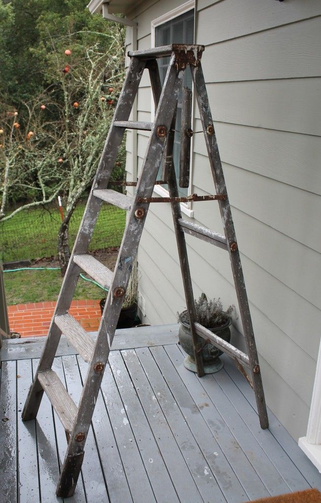 Small Antique Rustic Wooden 3 Step Ladder Vintage Wood Step Ladder Wood Steps Wood Ladder Vintage Wood