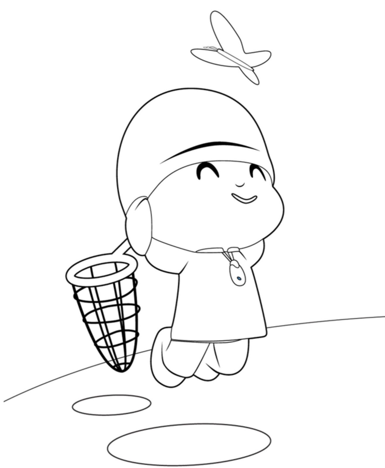 Pocoyo o protagonista de uma série de animação, de mesmo nome ...
