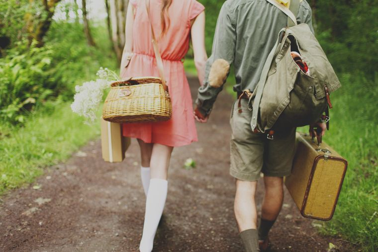 The cutest Moonrise Kingdom engagement photo shoot you will EVER see.
