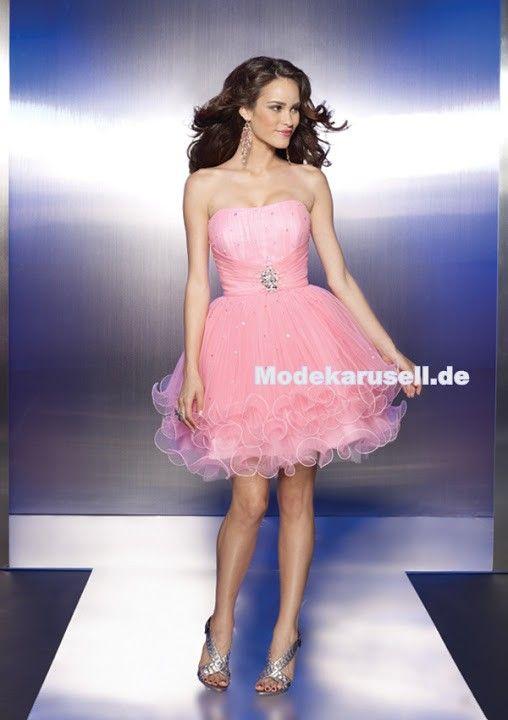 Kurzes Tüll Abendkleid Online in Rosa Blau | günstige Abendkleider ...