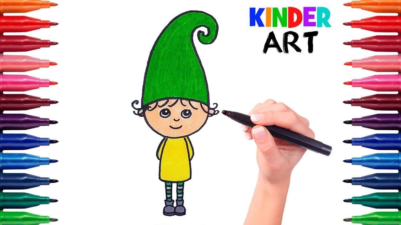 Kak Narisovat Gnoma Poetapno Rebenku Video Dlya Detej How To Draw A G Dlya Detej Risunki Deti