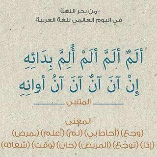 وما اجمل منك يالغتنا العربية Words Quotes Language Quotes Cool Words