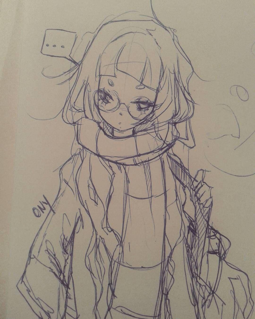 Ballpen Sketch Drawing Anime Manga Art Girl Japan Mori Kawaii Animeart Pen Doodle Artpromote Da Anime Drawings Sketches Cartoon Art Sketches