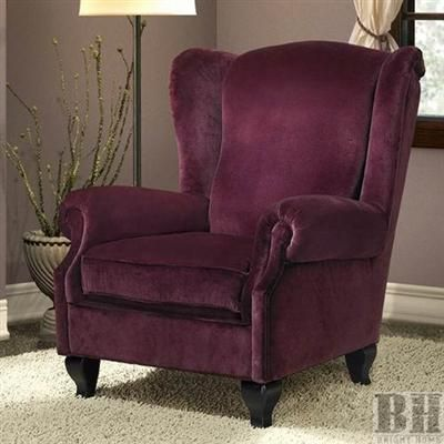 Bright Home Chicago Purple Velvet Wing Back Club Chair. This Is A Chair I  Could