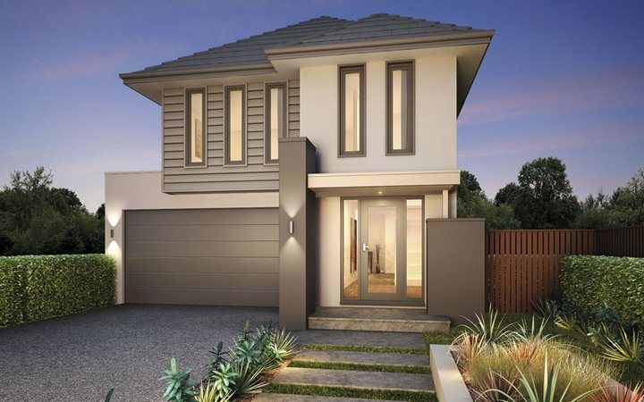 Metricon Home Designs: The Banksia - Contemporary Facade. Visit www.localbuilders.com.au/builders_nsw.htm to find your ideal home design in New South Wales