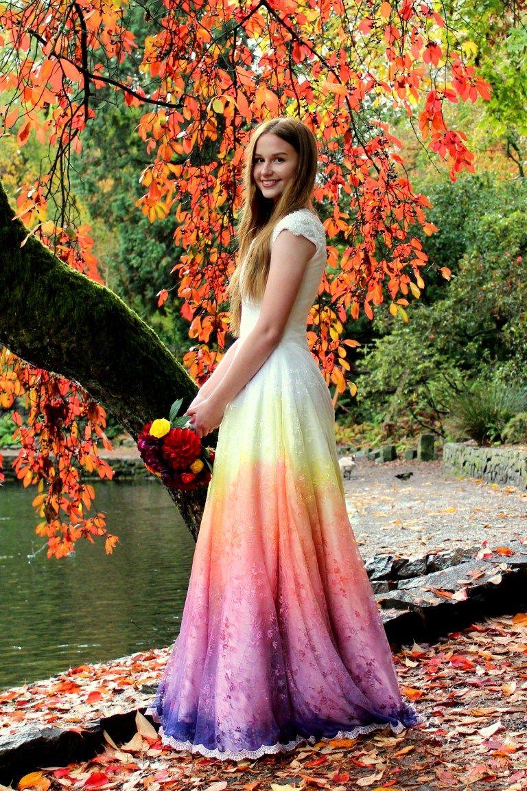 46++ Rainbow wedding dresses for bridesmaids info