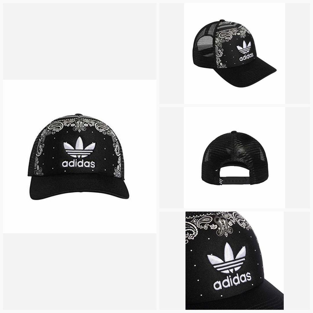Bandana Fever Black Bandana Print Adidas Trucker Cap #la