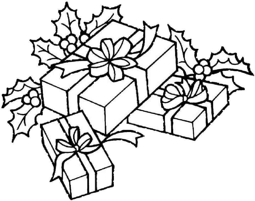 Раскраска новый год подарки | Рождественские раскраски ...