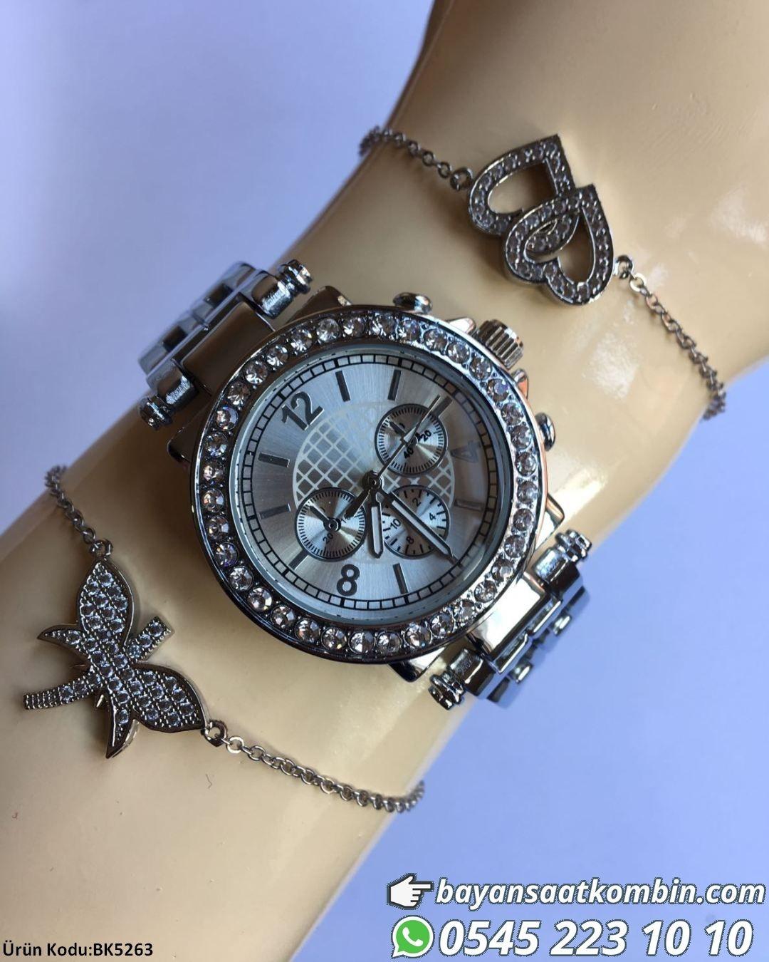 Saat Bileklik Kombini Bileklikler Saat Ile Birlikte Gonderilir Fiyat 49 99 Tl Bankakarti Kredi Kartihavale Watches Women Fashion Girls Watches Elegant Watches