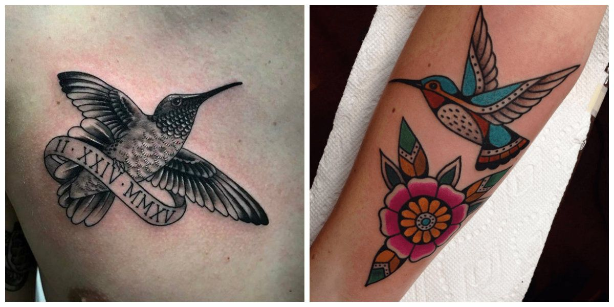 Tatuajes De Colibri Disenos Hermosos Del Tatuaje Del Colibri En