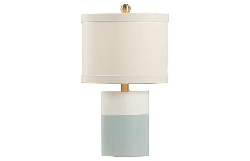 Warren Banded Table Lamp Blue Cream Chelsea House Table Lamp Cream Table Lamps Transitional Table Lamps