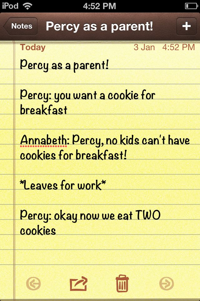 Percy as a parent! Hahahahaha