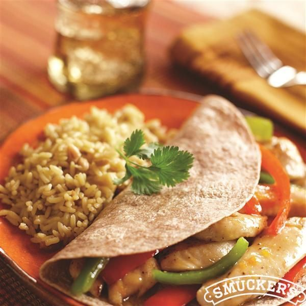 #Apricot Chicken and Pepper #Fajitas from Smucker's®