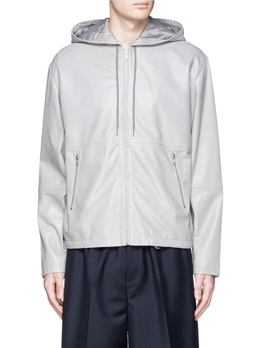 MCQ ALEXANDER MCQUEEN Leather Zip Hoodie. #mcqalexandermcqueen #cloth #hoodie