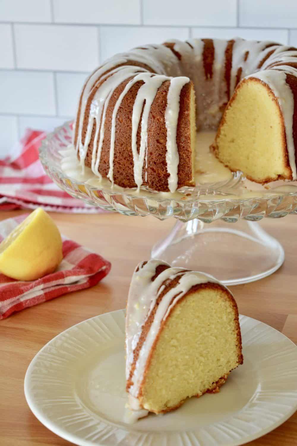 Olive Oil Bundt Cake | Lemon Honey Glaze