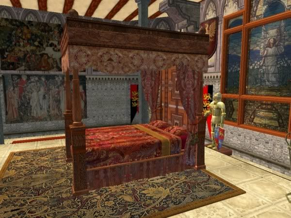 Plum Bob Keep: Recolors of Medieval Sims King and Queen Beds ...