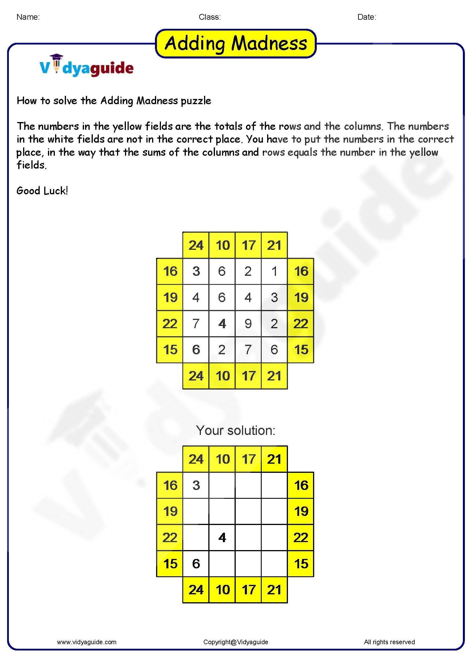 Solve Math Puzzle Squares Math Tricks In
