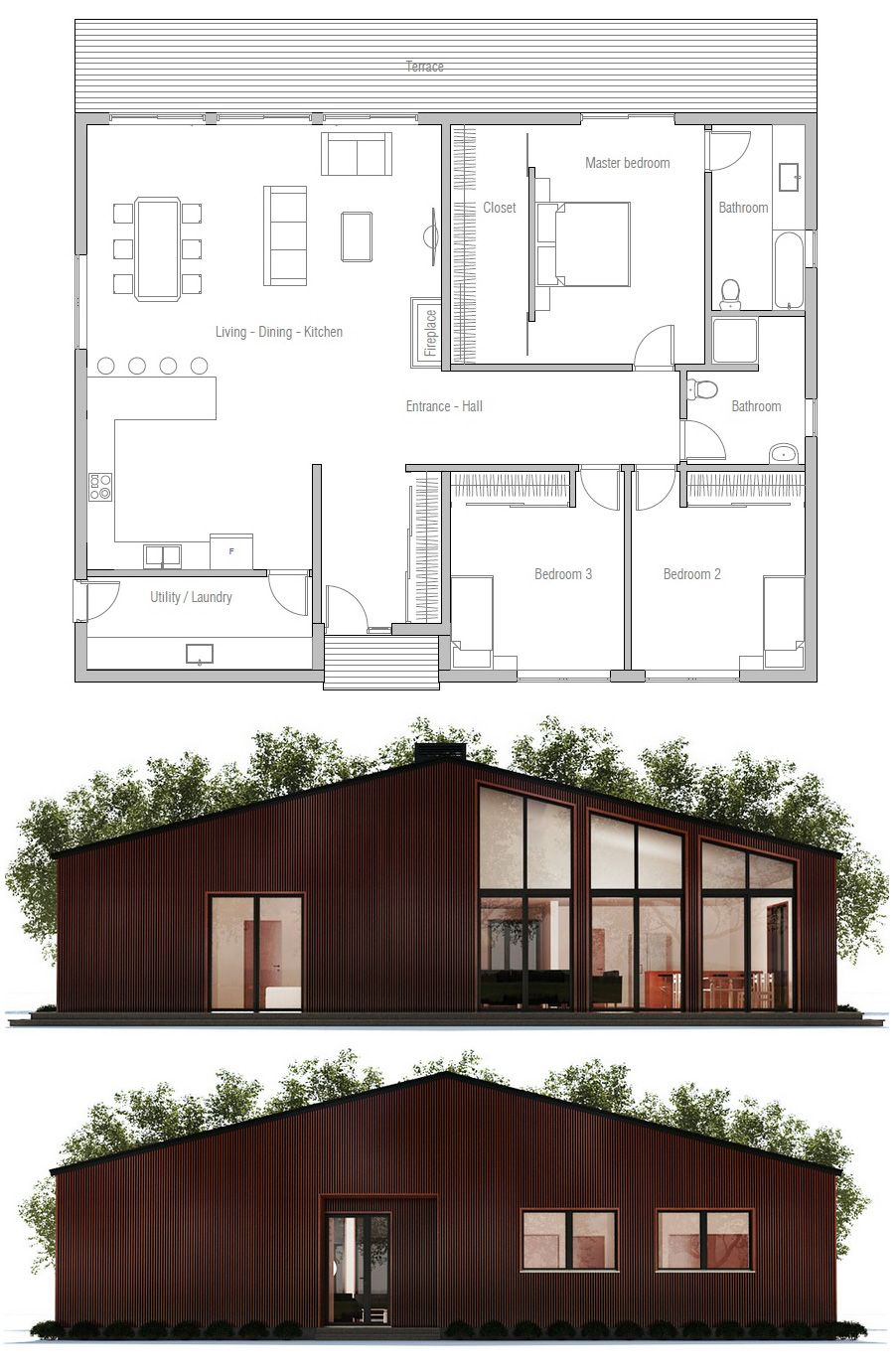 House Plan Ch371 House Layouts Dream House Plans New House Plans