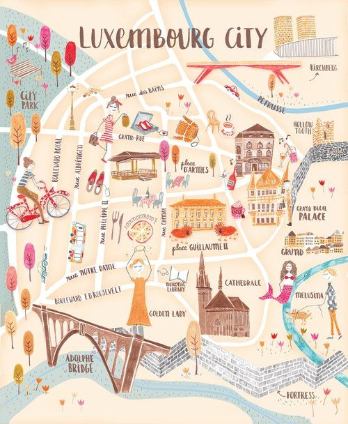 Luxembourg City Tour: Luxembourg, Travel, Map