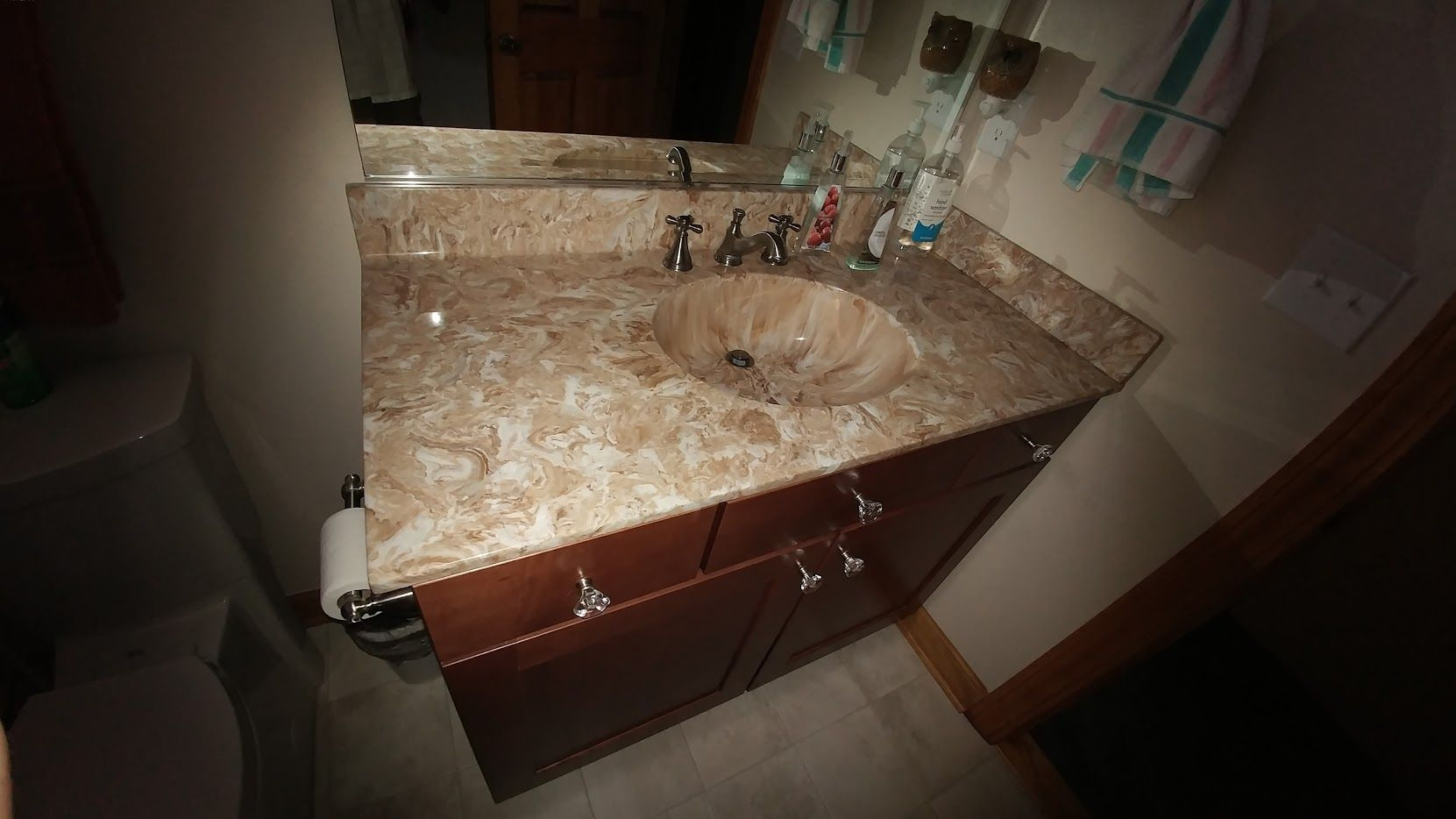 8 spread faucet delta cultured marble vanity top to match cultured shower with 8