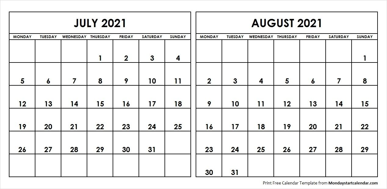 Blank Calendar June July August 2021 June July August 2021 Calendar in 2020 | August calendar, School