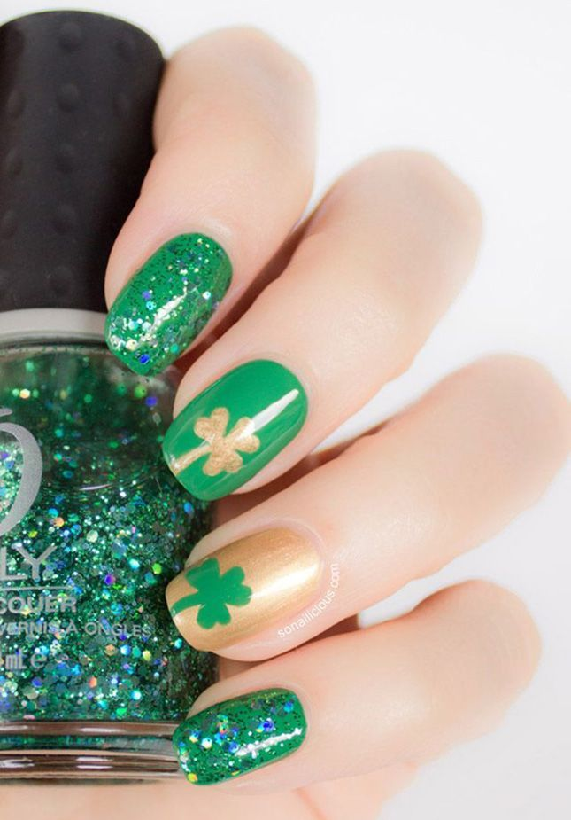Nail Art Ideas for St. Patrick\'s Day | Holiday nail art and Nails ...