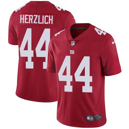 3baaf5569 Youth Nike New York Giants #44 Mark Herzlich Limited Red Alternate NFL  Jersey