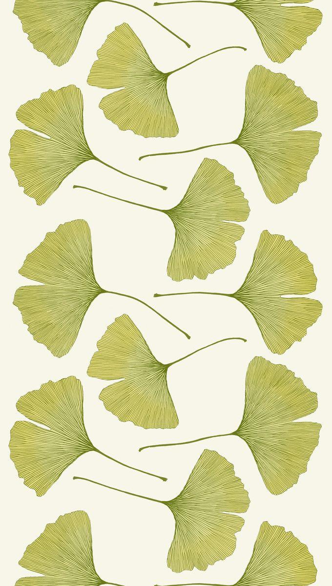 Ginkgo print by Kristina Isola for Marimekko   Marimekko   Pinterest ...