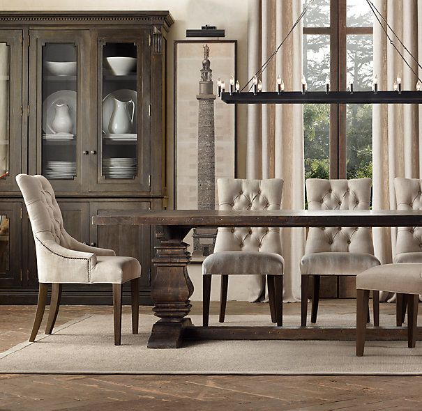 Meet My New Dining Room Table. Restoration Hardware.