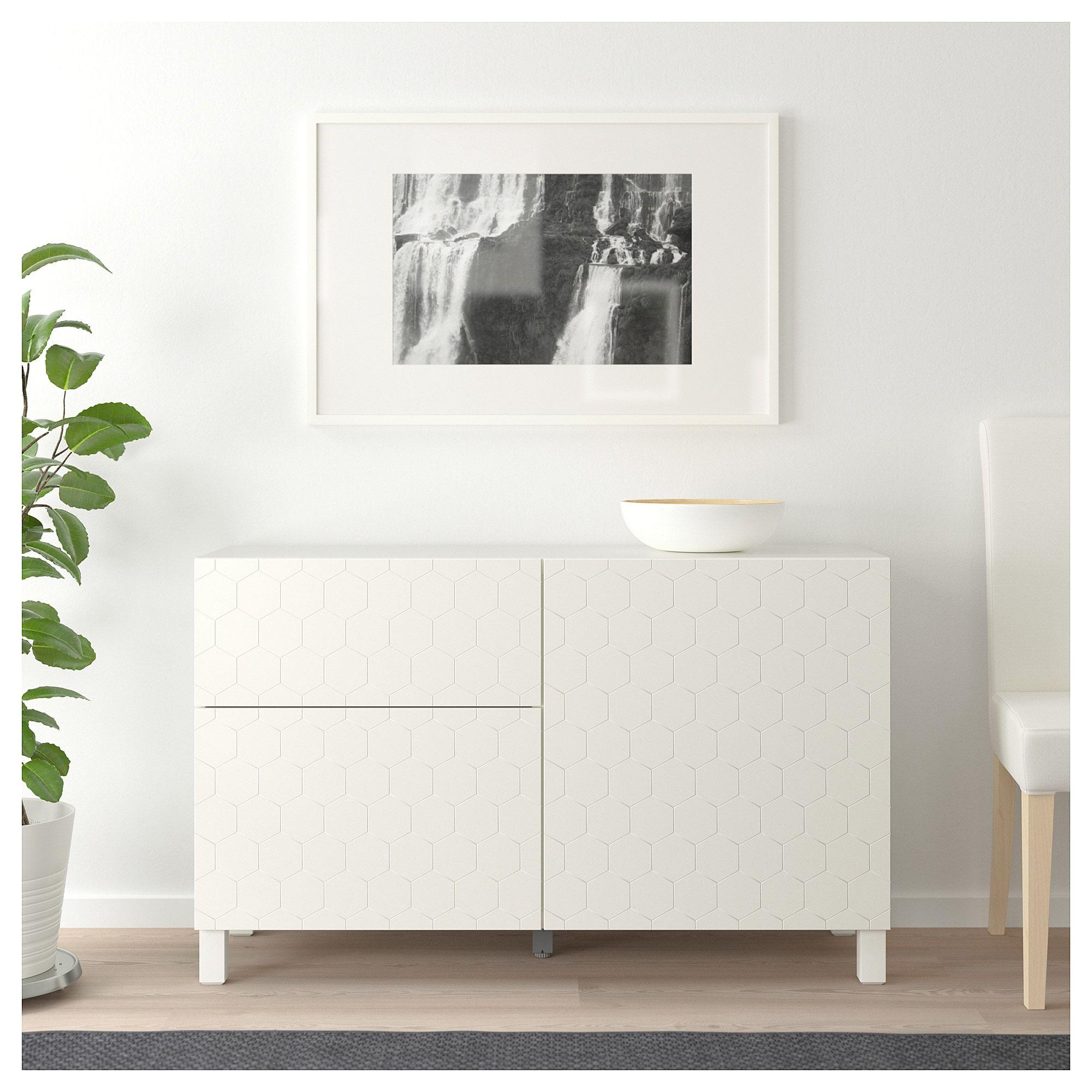 6447d783adb BESTÅ Storage combination with doors - white Vassviken Sularp white - IKEA