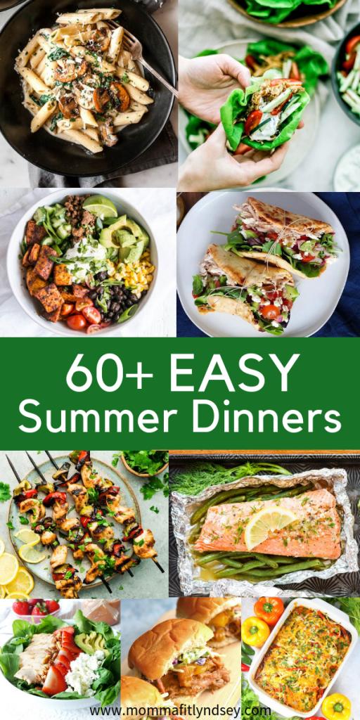 Summer Dinner Ideas: 60+ Fresh Dinner Recipes for Summer images