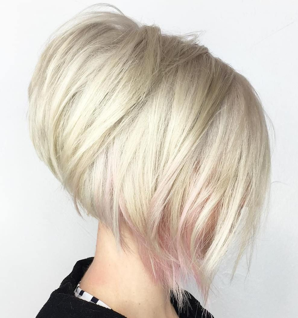 chic angled bob haircuts blonde layers white blonde and bobs