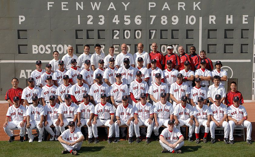 The 2007 Boston Red Sox (Credit: Boston Red Sox)