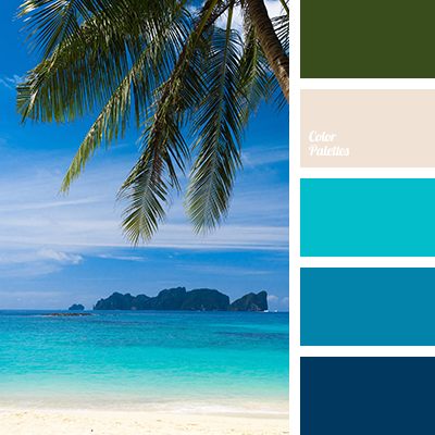 Aqua Aquamarine Blue Color Palettes Shades Dark Green Deep Hot Oceanic Palm Leaves Sand