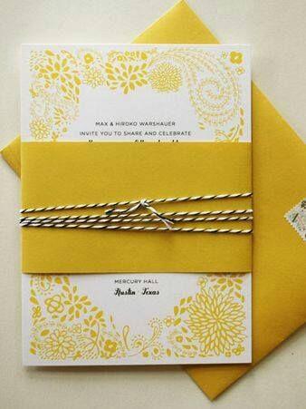 Partecipazioni Matrimonio Gialle.Pin Di Nozze Meravigliose Su A Touch Of Yellow Matrimonio