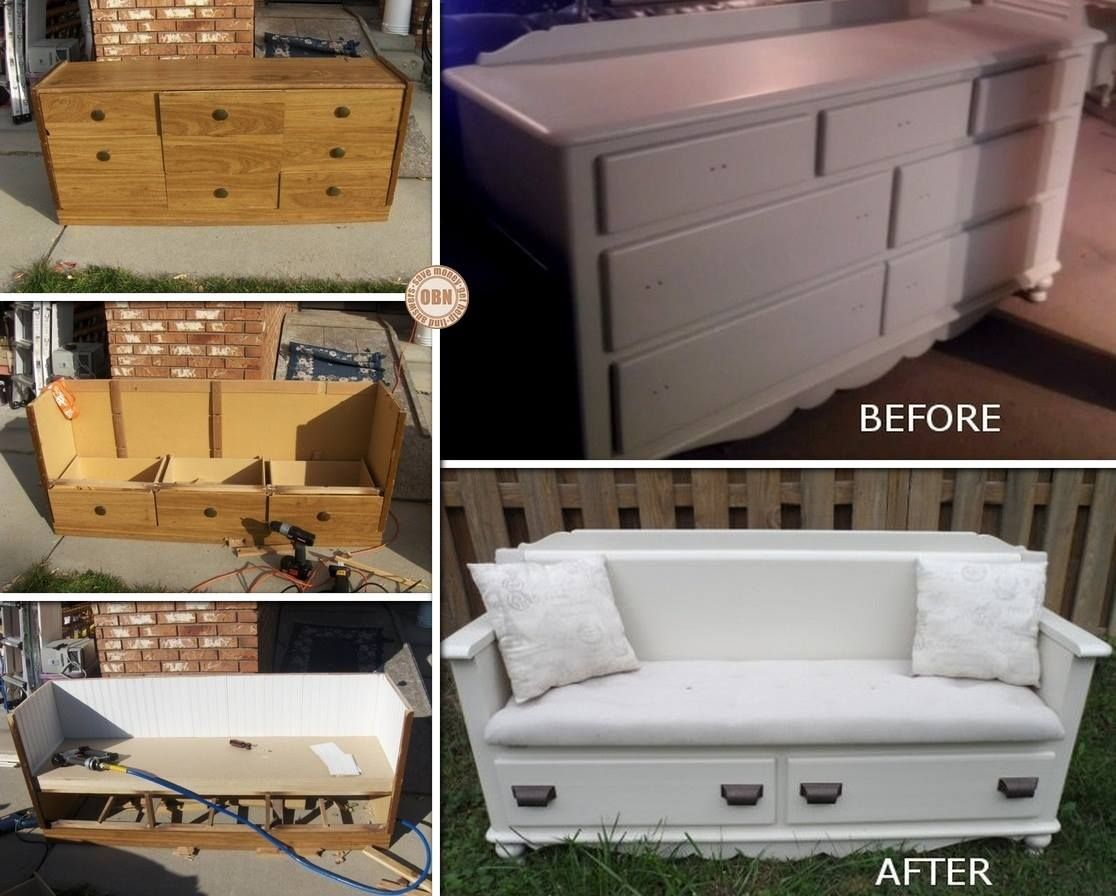 aus alt mach neu eine kommode als sofa upcycling. Black Bedroom Furniture Sets. Home Design Ideas