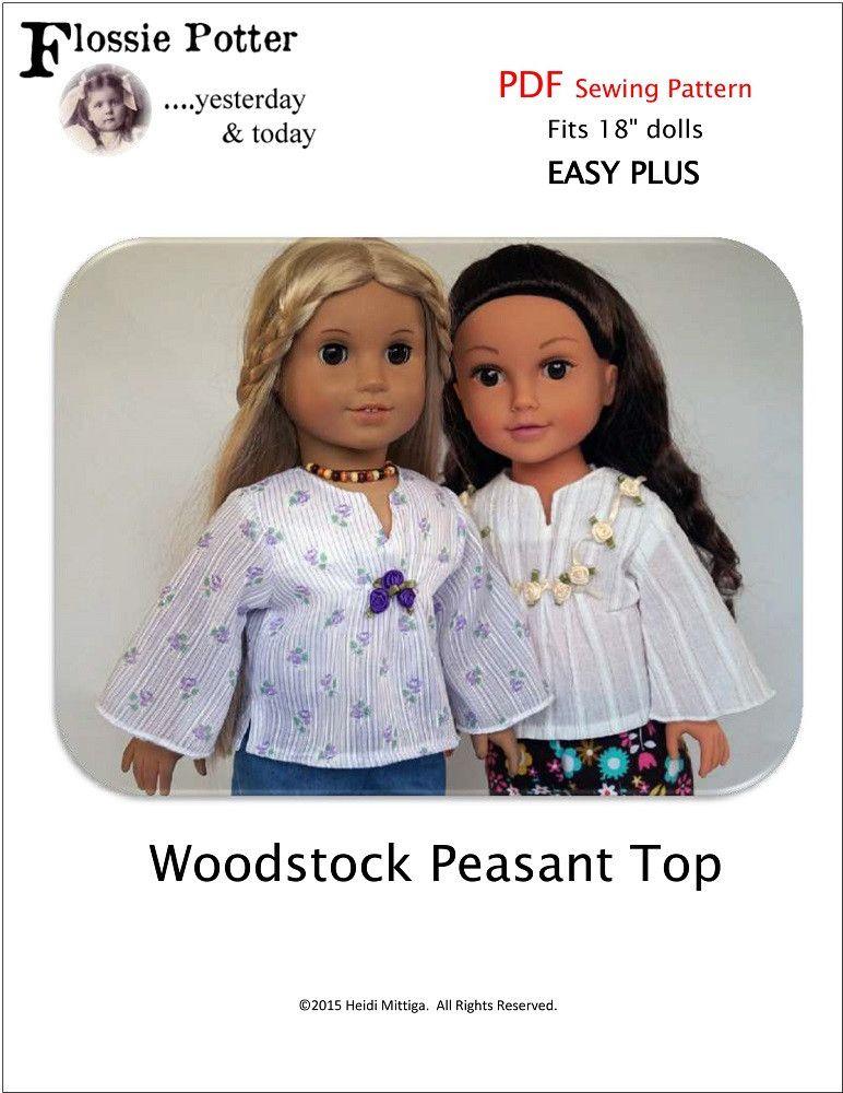 Woodstock Peasant Top 18\