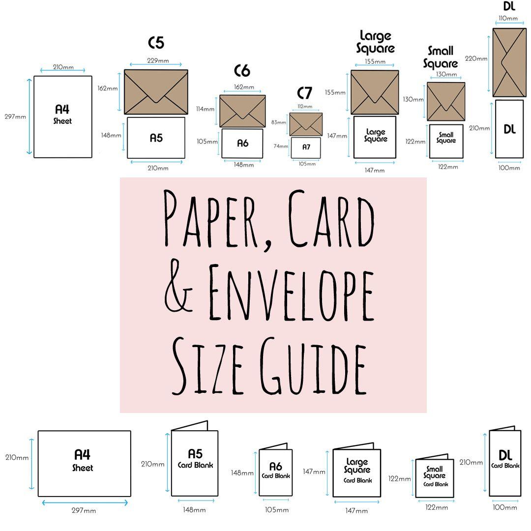 paper  card  u0026 envelope size guide