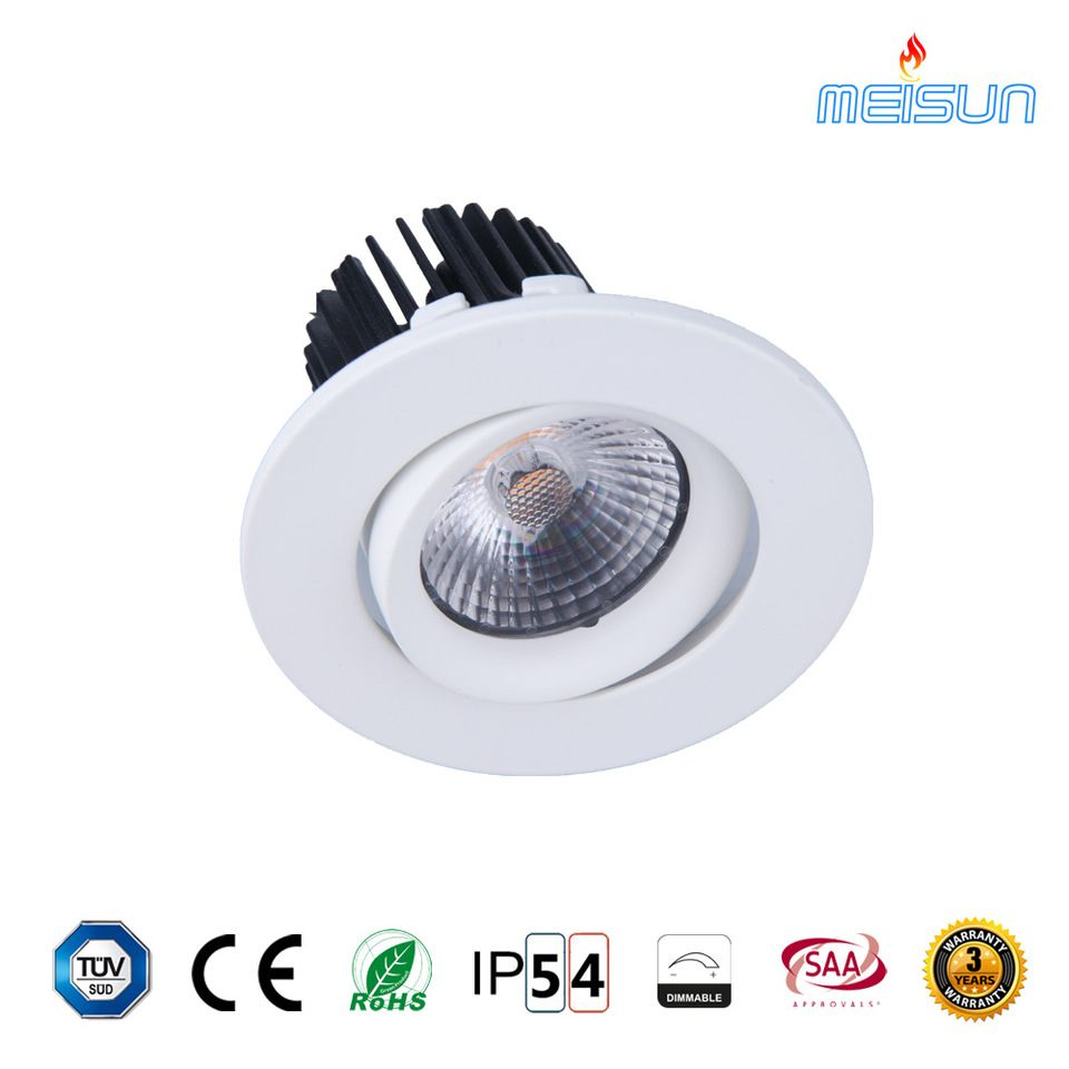 Chinese Supplier 12 Volt Ceiling Lights Gimbal 7w Led Downlight 12v With Tuv Ce Certification For Project Ceiling Lights Downlights Lights