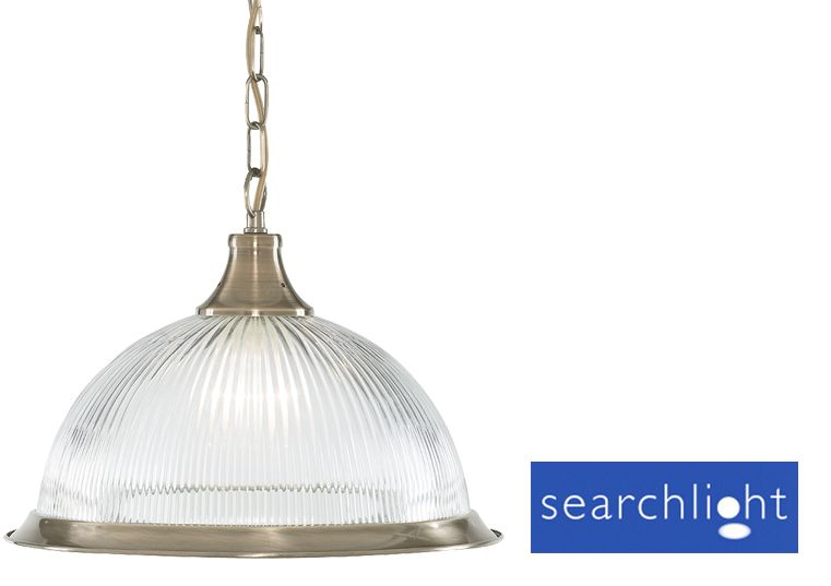 Searchlight American Diner Ceiling Pendant Antique Br