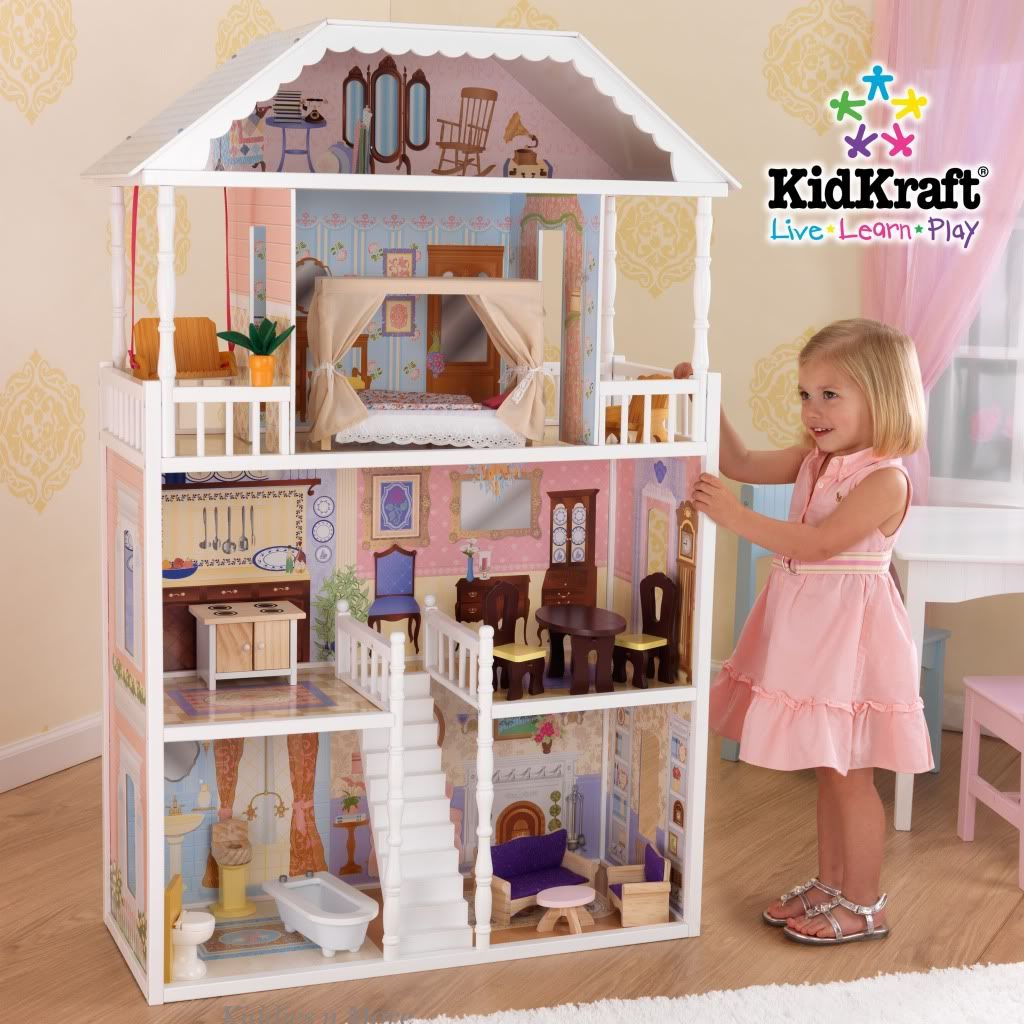 Details About New Kidkraft Aria Wooden Dollhouse Fits 12 Doll